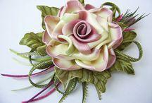 flores em fita