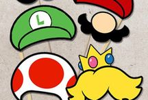 Super Mario party inspiration / Inspiration for my sister's video game-themed wedding shower.