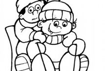 Winter Season Coloring Pages / This page has lots of printable Winter Season for kids,parents and teachers.Winter is the coldest season of the year. The temperature outside is always coldest in Winter. Some places will have snow storms. The days are the shortest in winter. Trees and other plants are resting during the winter and waiting until Spring to start to grow again.