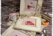 Sütemények - 3 részes falikép