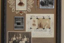 Framed Family History / Framed family heirlooms.  Keep them for generations to see and enjoy.