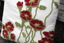 вышивка ковровой иглой