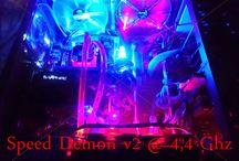 Speed Demon v2 By Infinity Gaming / Assemblage Pc Gamer SPEED DEMON v2 i7 3770K @4.4 Ghz 16 Go DDR3 2400 Revodrive 240 Go  4 To - VaporX 3Go Oc Boitier Elysium  Watercooling  Alim 650w 80+ Z77 BigBang...
