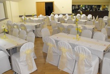 Yellow Bow - Chair Covers / Beautiful Yellow Bows from The Sophisticated Touch