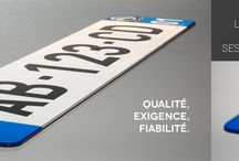 Nos produits / Présentation de nos plaques d'immatriculation