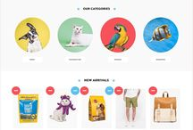 Ecommerce homepage layout
