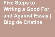 5 steps to writing a good FOR and AGAINST essay