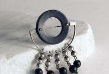 Scandinavian modernist silver brooches / Beatiful brooches from the 1950s to the 1970s by Scandinavian and Finnish designers.