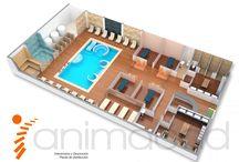 animacad plantas comerciales 3D / Infografias, decoración e interiorismo