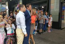 Henry Cavill and Armie Hammer at the Good Morning America / In the morning ahead of the World Premiere of The Man from U.N.C.L.E. on August 10, 2015, Henry Cavill and Armie Hammer visited 'Good Morning America' in Times Square, New York City.