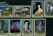 Paintings Stamps / Stamps with topic Paintings