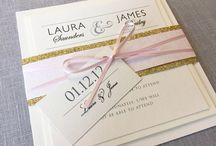 Glitter wedding stationery / Glitter