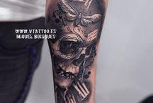 Totenkopf Tattoo-design