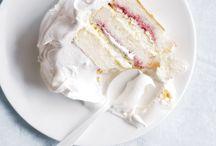 Angel food cakes white cakes