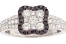 Black And White Diamonds .... Set In 18k White Gold