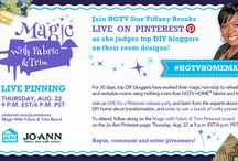 Magic with Fabric and Trim / Join us and HGTV Star Tiffany Brooks LIVE on August 22nd at 9pm! Learn from the experts about DIY transformation and enter to win a bunch of crafty prizes! / by Jo-Ann Fabric and Craft Stores