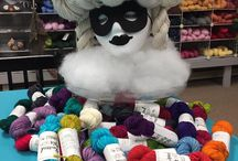 Our Yarns / From sock yarns to chunky weight, we offer many different types and colors of yarn!