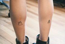 ink / tattoos, simple tattoos, tree, moon, arrow tattoo, indie tattoo
