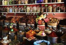 Herbs shop interior