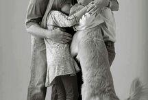 Family + dog
