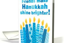 Hanukkah Festival of Lights / A special time of year for Jewish families everywhere, Hanukkah or Chanukah, is a time to spend time and cherish family & friends.  Seven Days and Eight nights, celebrate with traditional food, music, table and  home decor and greeting cards filled with symbols of the Star of David, menorah, dreidel and more and even celebrate the beauty of your interfaith friendships and beliefs.