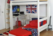 Beds with Sofas / Top brand raised highsleeper beds with built in futon sofas and sofa beds for relaxing and pull out sofabeds for guest sleepovers.
