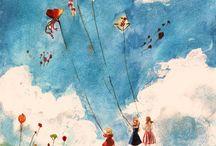 Latawce dmuchawce .... / niebo i marzenia