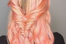 Peach Passion Haircolor / Gorgeous peach, passion pink and mauve tones for hair color.