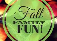 Fall Family Fun / Fun family activities and ideas for things to do!