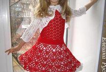 Новогоднее платье крючком детское