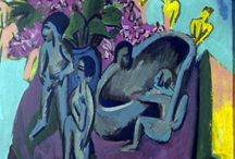Art: Ernst Ludwig Kirchner / German painter 1880-1938. Expressionism.