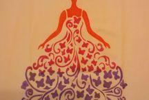 Moje malování na textil