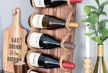 Vinhos , garrafas, decoração