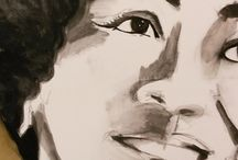 Portraits of my jazz heroes / 70 x 90 cm