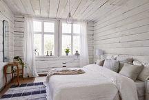 White cabin inside