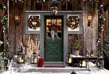 front porch outroor christmas decorations ideas