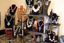 Great Jewelry Displays for Craft Fairs / This is a collection of pictures of jewelry displays that would be great to showcase your handmade jewelry for craft shows. / by Margo Horowitz