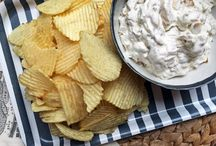 Dips / Party dips, appetizers, cream cheese, sour cream, cheese or any wick and easy dip recipes and salsas