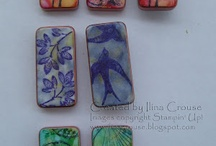Game Pieces, Scrabble, Dominos, Ect. / Crafting with Game Pieces, Domino's, Scrabble Tiles / by Margie Roderer
