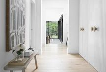 Cupboards in lounge room walkway