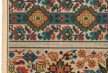 Tricot, pt de croix, tapisserie