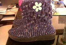 Botas en lana punto cocodrilo