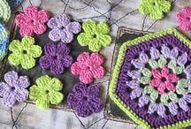 Crochê - flores e squares