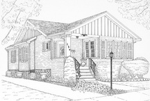House Portraits by CCreech Studio / Pen and ink house portraits done by me, Carol Creech.