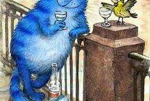 синий котик