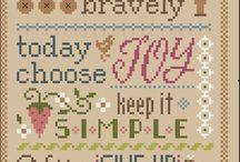 Cross stitch with words