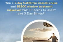 Sweepstakes / Enter our Room With a View Getaway sweepstakes for your chance to win a 7-day Princess Cruises California Coastal cruise, PLUS a $3,500 Window Treatment Makeover from 3 Day Blinds! / by 3 Day Blinds