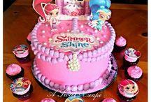 shimmer & shine taarten en cupcakes