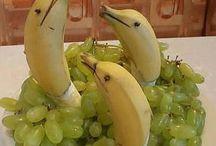 zödlség- gyümölcsszobrok