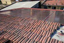 Impianto Scandicci / impianto fotovoltaico integrato in sostituzione del manto di copertura realizzato con pannelli colorati, invecchiati